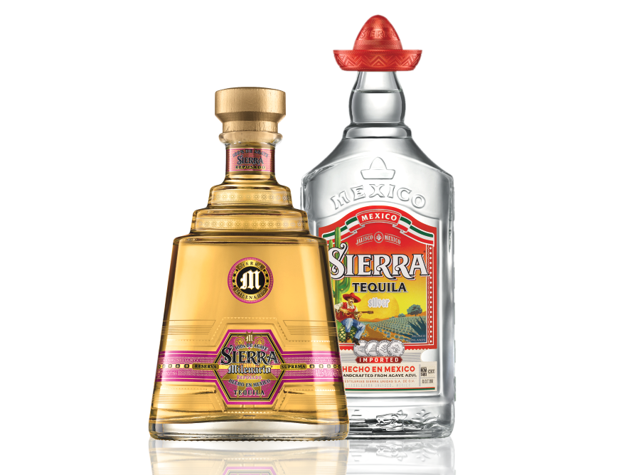 thumbnail of 2 coloured Tequila bottles on a transparent background