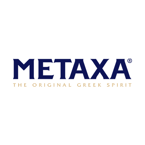 Metaxa Greek Brandy Transparent Grey Logo