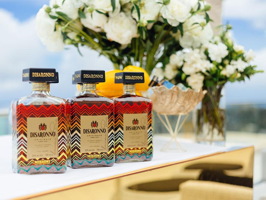 Disaronno Wears Missoni bottle display