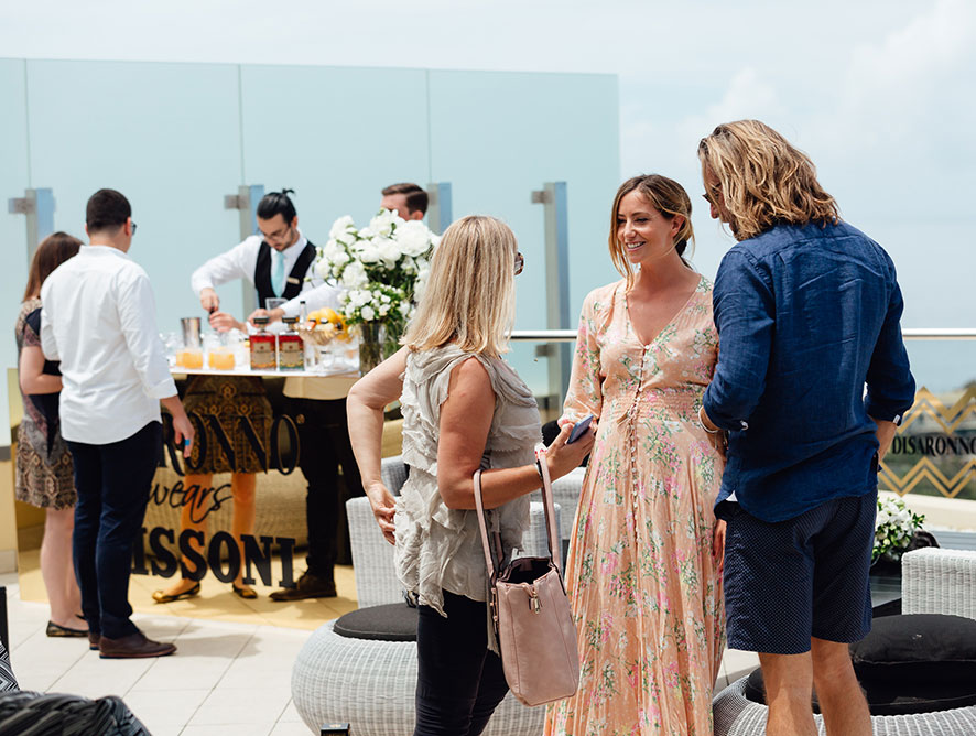 Guests at Disaronno Wears Missoni event